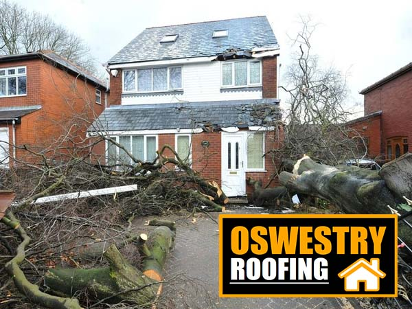 storm damage oswestry